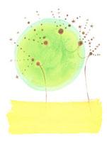 黄色と黄緑の星の木