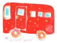 赤いバス 02479000034| 写真素材・ストックフォト・画像・イラスト素材|アマナイメージズ