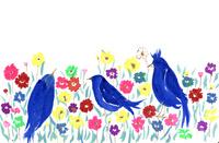 鳥と花 02479000115| 写真素材・ストックフォト・画像・イラスト素材|アマナイメージズ