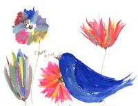 鳥と花 02479000120| 写真素材・ストックフォト・画像・イラスト素材|アマナイメージズ