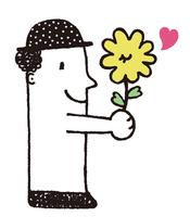 ぼくの気持ちをお花で伝える
