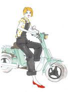バイクに乗る女性 02485000007| 写真素材・ストックフォト・画像・イラスト素材|アマナイメージズ