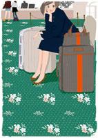 椅子に座る女性 02485000011| 写真素材・ストックフォト・画像・イラスト素材|アマナイメージズ
