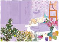 お風呂に入る女性 02485000016| 写真素材・ストックフォト・画像・イラスト素材|アマナイメージズ