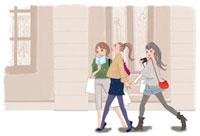 買い物をする3人の女性たち 02485000026| 写真素材・ストックフォト・画像・イラスト素材|アマナイメージズ