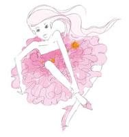 シフォンのドレスを着た女性 02485000028| 写真素材・ストックフォト・画像・イラスト素材|アマナイメージズ