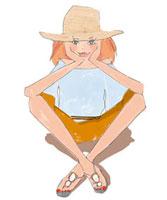 見つめる女性 02485000032| 写真素材・ストックフォト・画像・イラスト素材|アマナイメージズ