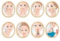 お化粧をする女性