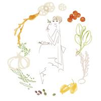 野菜を食べる女性 02485000049| 写真素材・ストックフォト・画像・イラスト素材|アマナイメージズ