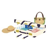 帽子とスーツケースとバッグ 02485000050| 写真素材・ストックフォト・画像・イラスト素材|アマナイメージズ