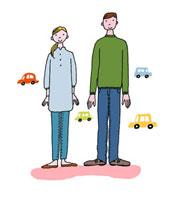 車と男女 02487000004| 写真素材・ストックフォト・画像・イラスト素材|アマナイメージズ