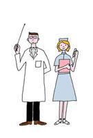 笑顔の医師と看護師 02487000011| 写真素材・ストックフォト・画像・イラスト素材|アマナイメージズ
