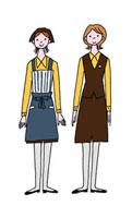 デパートの女性店員2人 02487000014| 写真素材・ストックフォト・画像・イラスト素材|アマナイメージズ