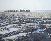 水彩画 土の匂い