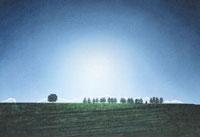 水彩画 真夏の青空 02488000027| 写真素材・ストックフォト・画像・イラスト素材|アマナイメージズ