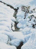 水彩画 雪解けの水
