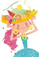 フルーツバスケットを掲げる女の子 夏のイメージ