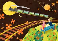 機関車とキンモクセイ