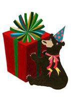 クマとプレゼントボックス