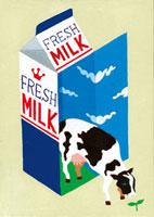 牛乳パックと牛