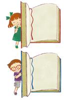 本と男の子、本と女の子