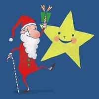 サンタクロースと星