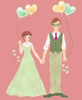 グリーンをテーマにした花嫁と花婿 02494000067| 写真素材・ストックフォト・画像・イラスト素材|アマナイメージズ