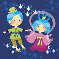 織姫と彦星 02494000069| 写真素材・ストックフォト・画像・イラスト素材|アマナイメージズ