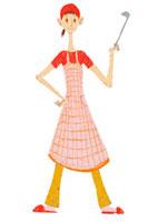 キッチン女性イメージ