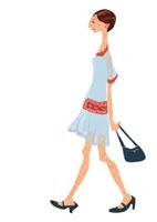 歩く女性 02499000012| 写真素材・ストックフォト・画像・イラスト素材|アマナイメージズ