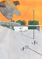 公園と鳩 02499000019| 写真素材・ストックフォト・画像・イラスト素材|アマナイメージズ