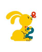 ウサギと数字の2