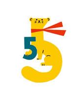 イタチと数字の5