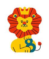 ライオンと数字の8