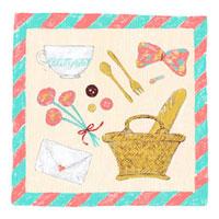 ピクニックに行く持ち物の柄のスカーフ