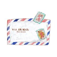 エアメールと切手