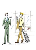 あいさつを交わすビジネスマン 02514000080| 写真素材・ストックフォト・画像・イラスト素材|アマナイメージズ