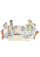 会議をする男女 02514000082| 写真素材・ストックフォト・画像・イラスト素材|アマナイメージズ