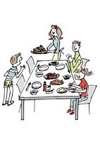 食卓を囲む家族 02514000115| 写真素材・ストックフォト・画像・イラスト素材|アマナイメージズ