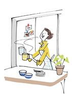 お茶を入れる女性 02514000120| 写真素材・ストックフォト・画像・イラスト素材|アマナイメージズ