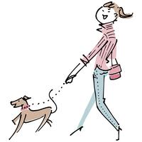 犬と女性 02514000194| 写真素材・ストックフォト・画像・イラスト素材|アマナイメージズ