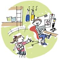 子供部屋で遊ぶ子供2人