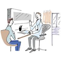 医師の説明を聞く男性 02514000227| 写真素材・ストックフォト・画像・イラスト素材|アマナイメージズ
