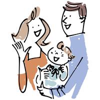 赤ちゃんを抱く男女