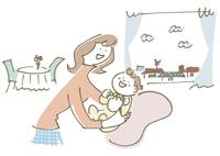 赤ちゃんをあやす女性 02514000254| 写真素材・ストックフォト・画像・イラスト素材|アマナイメージズ