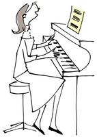 ピアノをひく女性 02514000270| 写真素材・ストックフォト・画像・イラスト素材|アマナイメージズ
