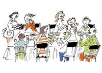 大家族の食卓 02514000288| 写真素材・ストックフォト・画像・イラスト素材|アマナイメージズ