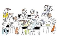 大家族の食卓 02514000289| 写真素材・ストックフォト・画像・イラスト素材|アマナイメージズ
