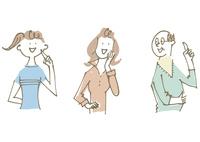 若い女性とシニア女性とシニア男性 02514000326| 写真素材・ストックフォト・画像・イラスト素材|アマナイメージズ