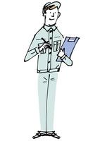 作業服の男性 02514000355| 写真素材・ストックフォト・画像・イラスト素材|アマナイメージズ